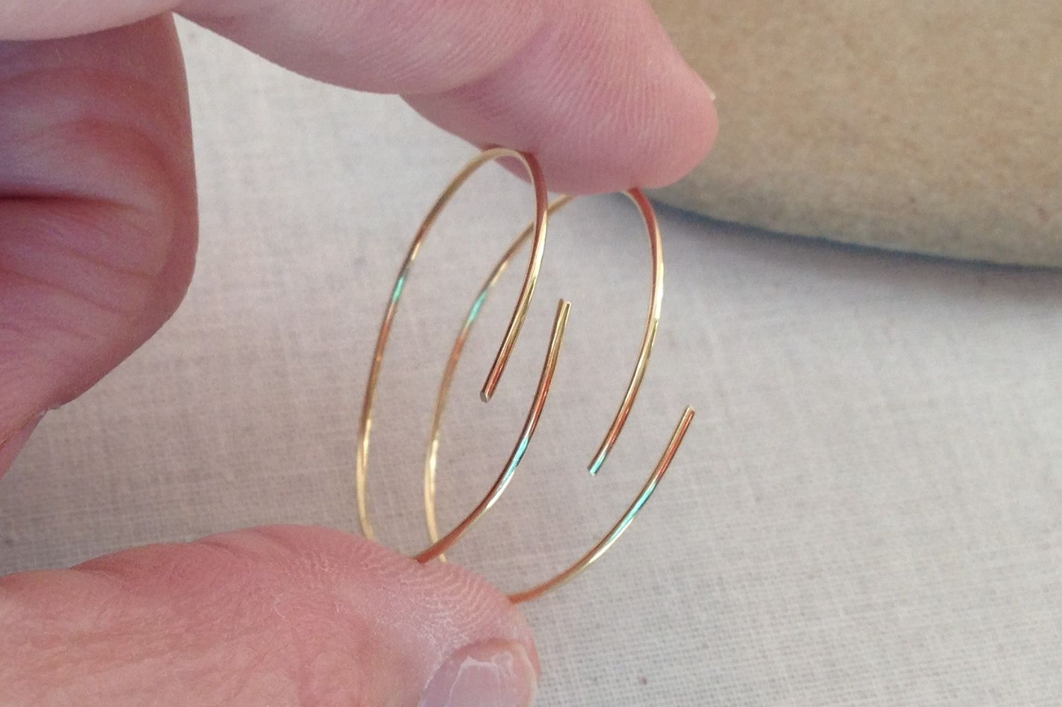 Cut hoops so there is about 1/4 inch overlap in the center