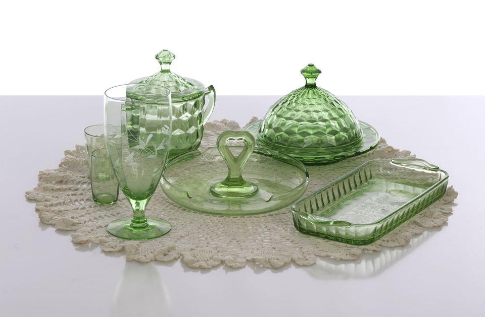 American Depression Glass At Estate Sale