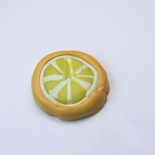 Lemon slice made of polymer clay