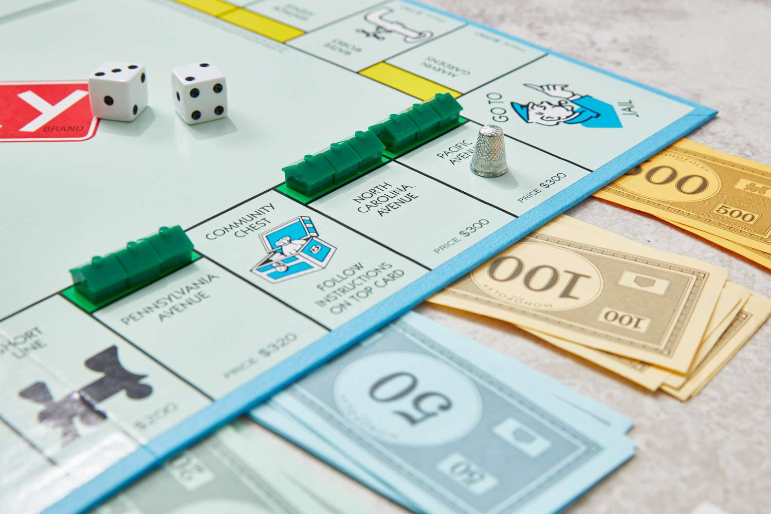 trios of houses on monopoly properties