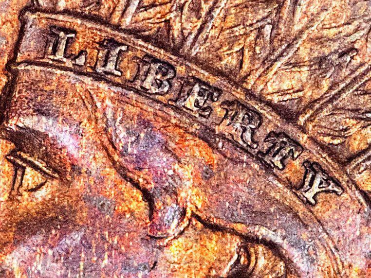 1873 Indian Head Cent Doubled LIBERTY on Headband Variety