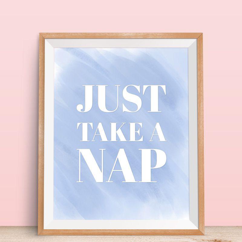 DIY Just Take a Nap Art