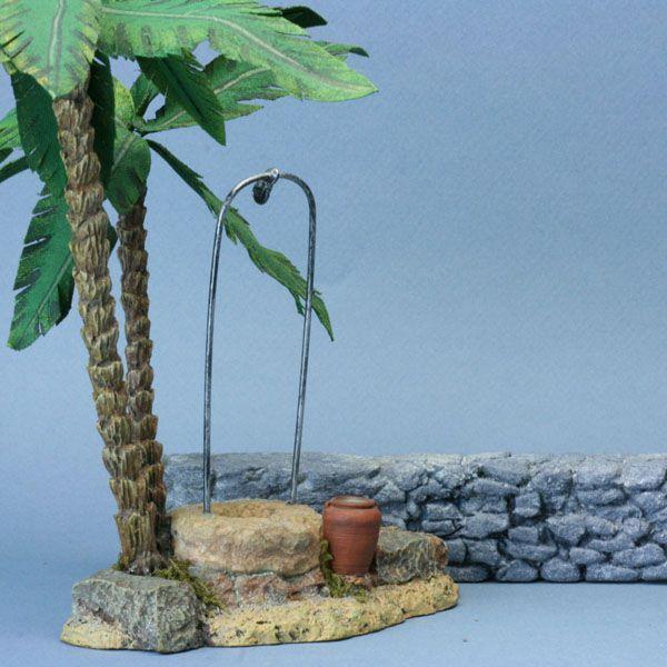 A miniature scale stone wall modelled in dense insulation foam.
