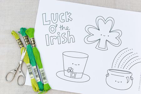 Sweet And Cute St Patricks Day Embroidery Patterns