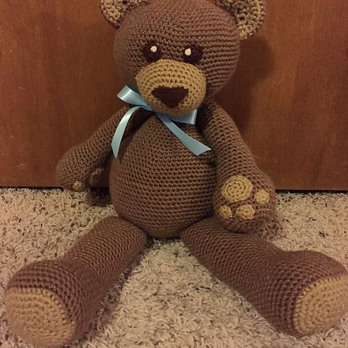 PATTERN Crochet Teddy bear. PATTERN Amigurumi Teddy bear. Tutorial ... | 490x490