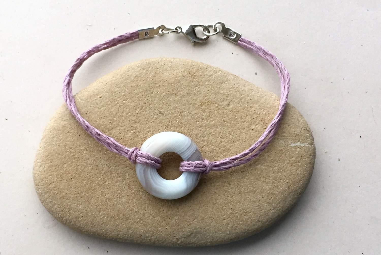 Lark's head knot bracelet