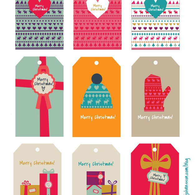 Colorful Modern Christmas Gift Tags