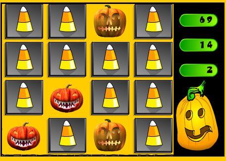 An online Halloween matching game