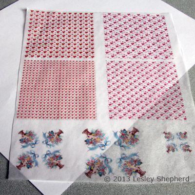 Valentine's tissue paper designs