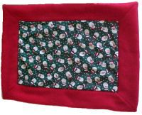 Fleece Blanket with Cotton Quilting Charm