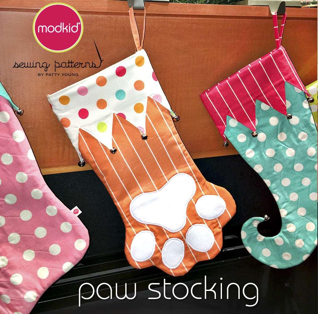 Paw Stocking Sewing Pattern