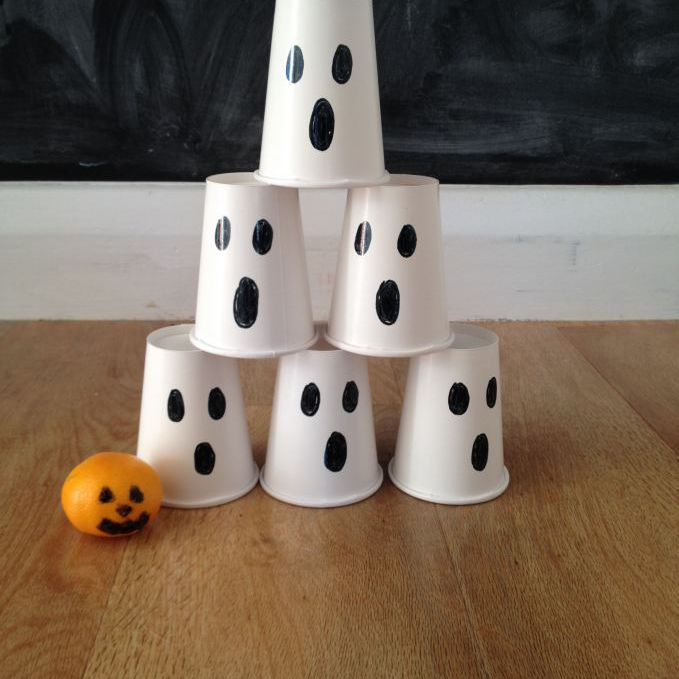 ghost bowling halloween activity