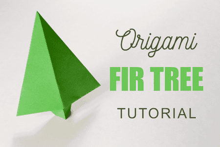 Traditional Origami Fir Tree Tutorial