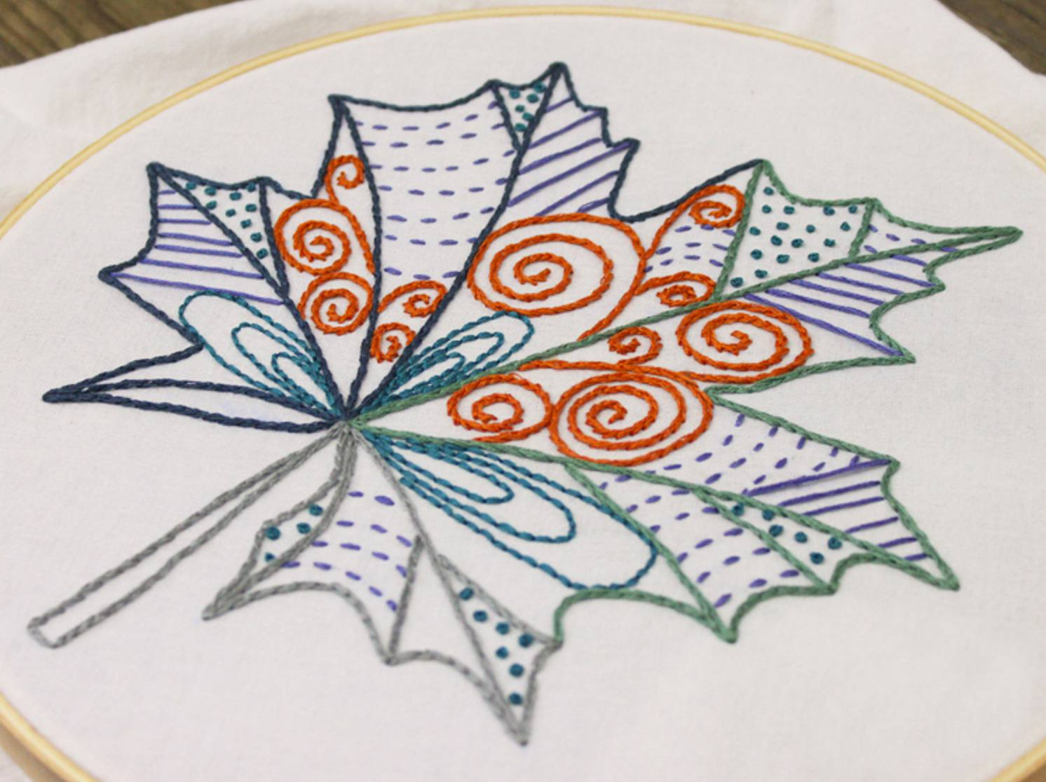 10 Hand Embroidery Patterns For Autumn Stitching