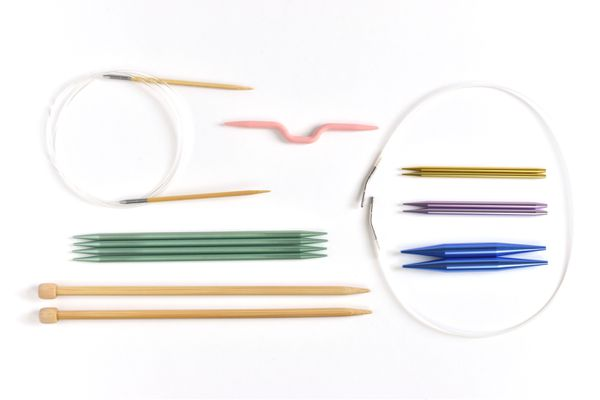 A Collection of Different Types of Knitting Needles