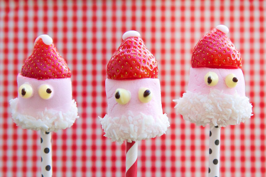 Strawberry Santa Pops