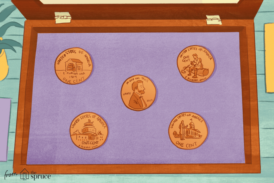 Illustration of 2009 Lincoln pennies