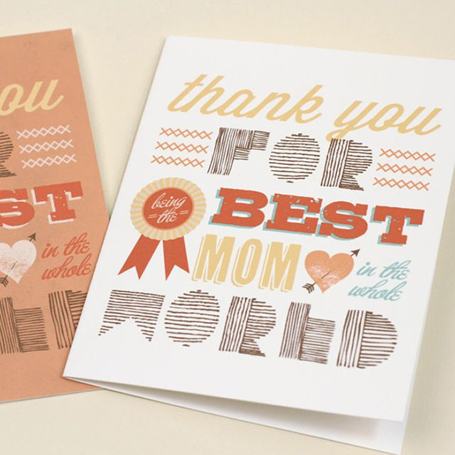 DIY Thank You For Being The Best Mom In The World Card
