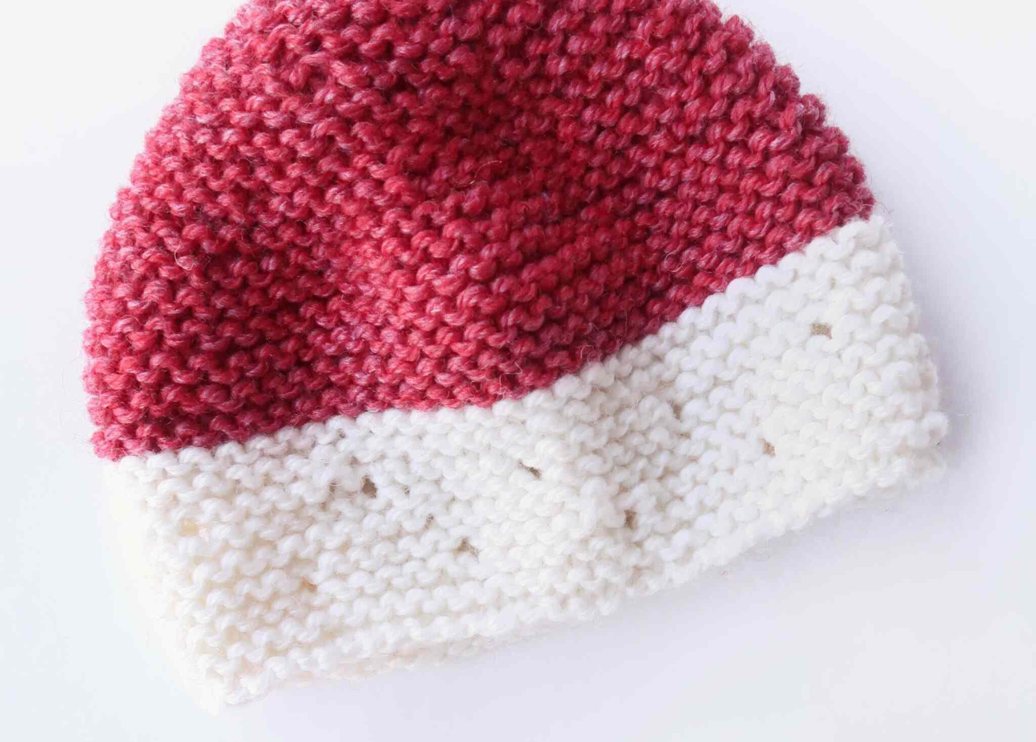 Strawberry Seeds Baby Hat Knitting Pattern