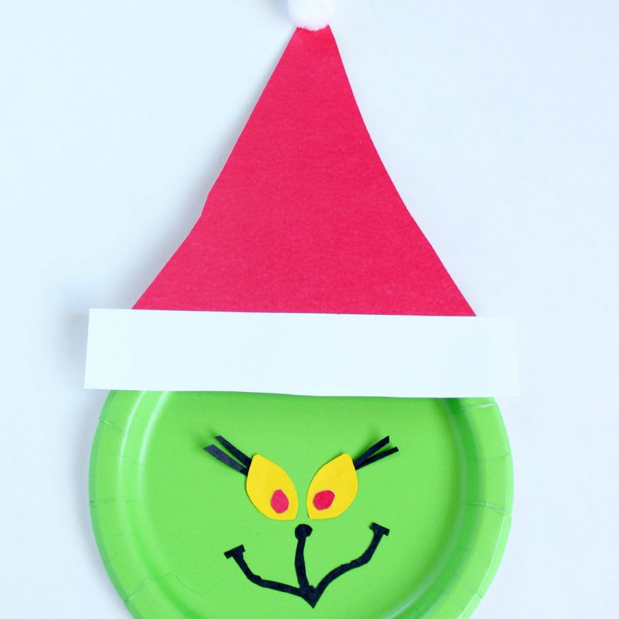 Grinch Paper Plate