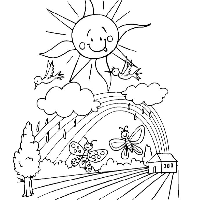 Free, Printable Spring Coloring Sheets For Kids