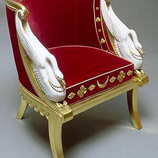 Egyptian Revival Gondola chair