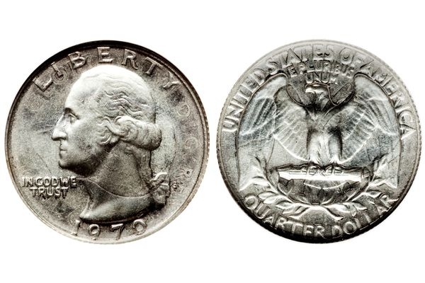 1970 S Washington quarter struck on a 1941 Canadian quarter