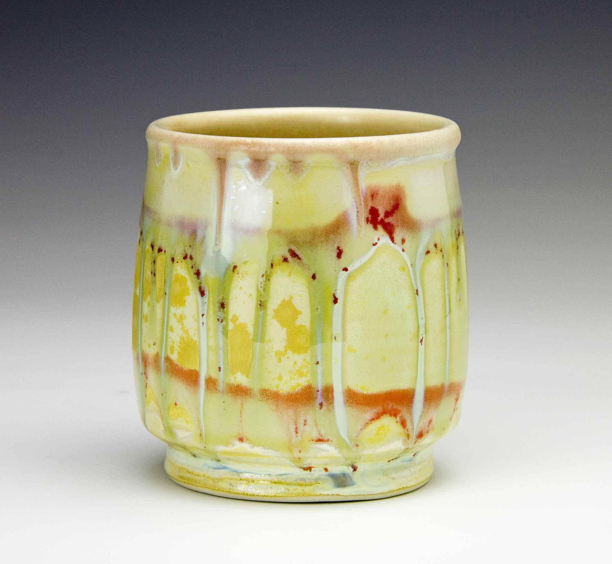 Crystalline glaze container