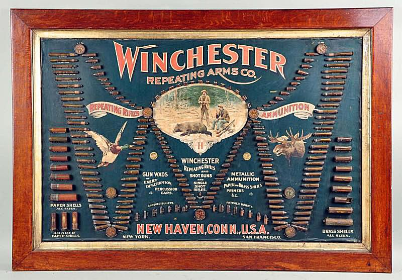 Winchester Advertising Ammunition Board