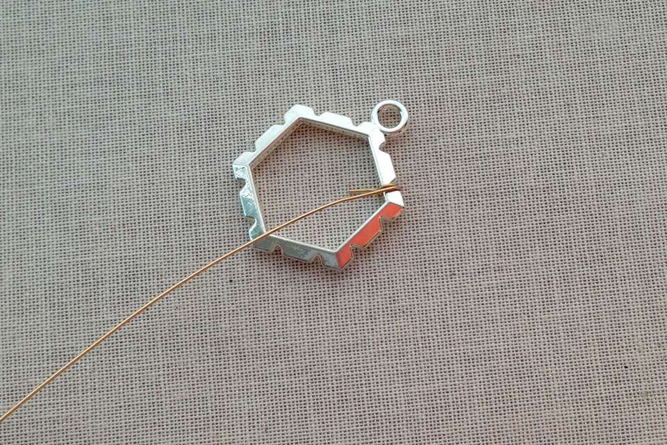 Wire Wrapped Frame Polished Stone Pendant