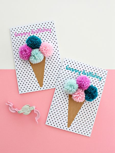 Free Printable Pom Birthday Card