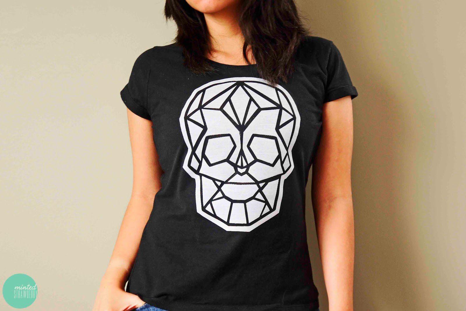 DIY Iron-On Skull T-shirt Halloween Costume