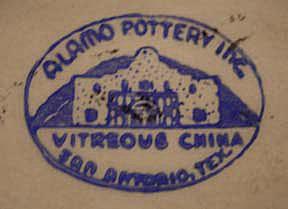 Alamo Pottery mark