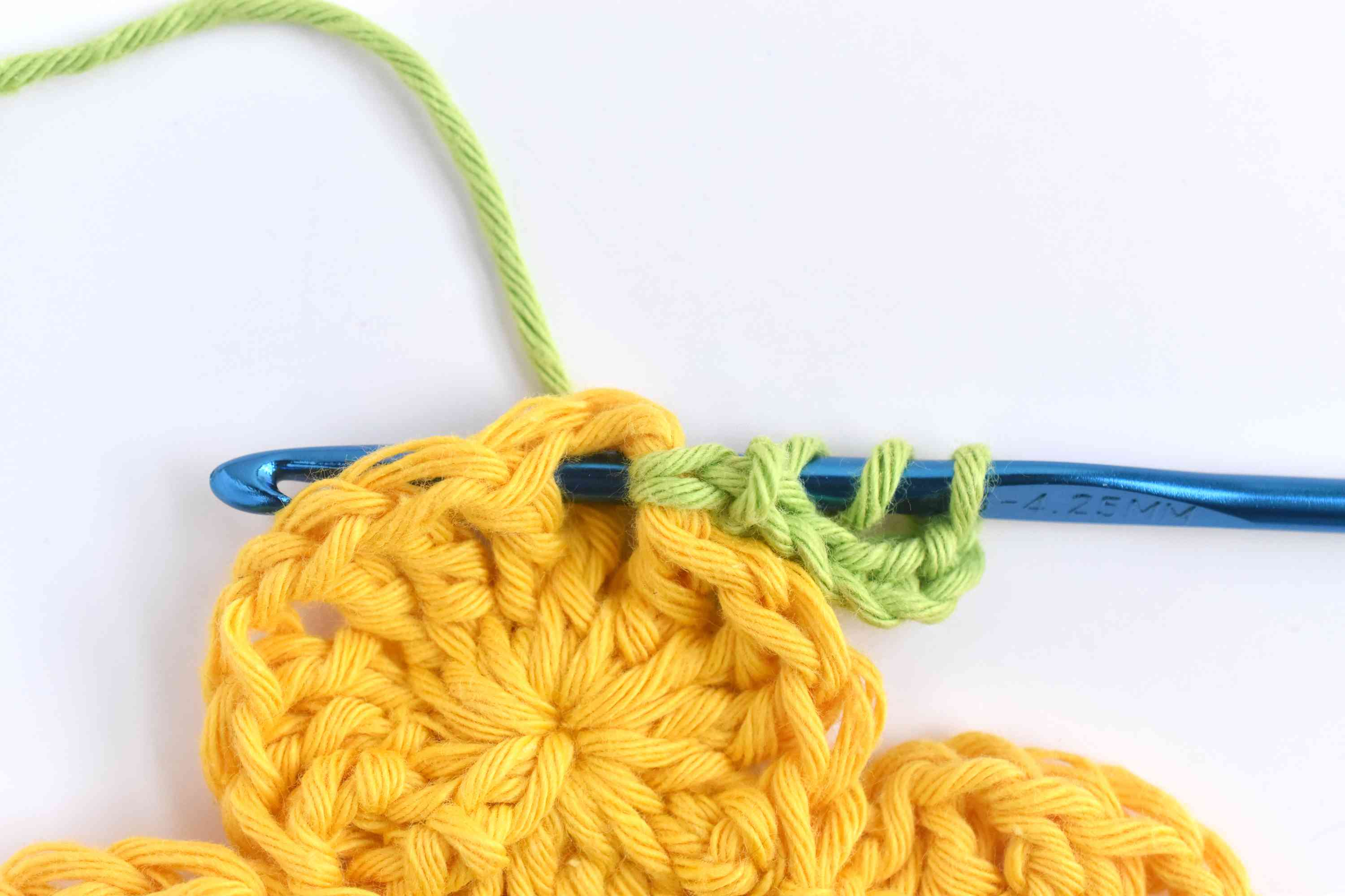 Yarn Over Two Times and Insert the Hook With the Post to the Back