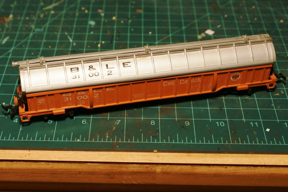 The starting point for this model is a Bachmann coil car. The same models were made by Lionel, AHM and Life Like. Although out of production, they can be easily found used for around $5.00