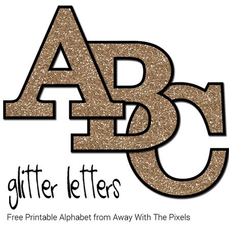 Free Glitter Alphabet To Download And Print