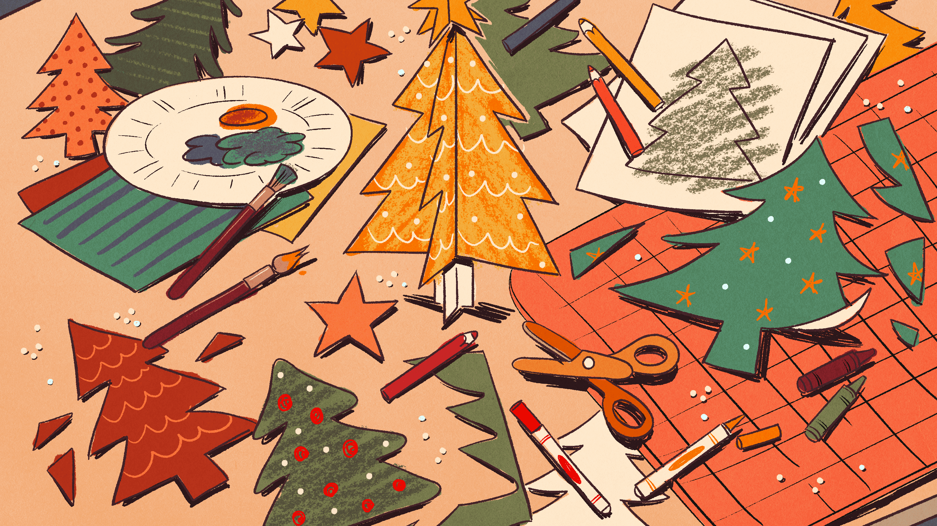 Christmas Tree Pattern.Christmas Tree Templates In All Shapes And Sizes