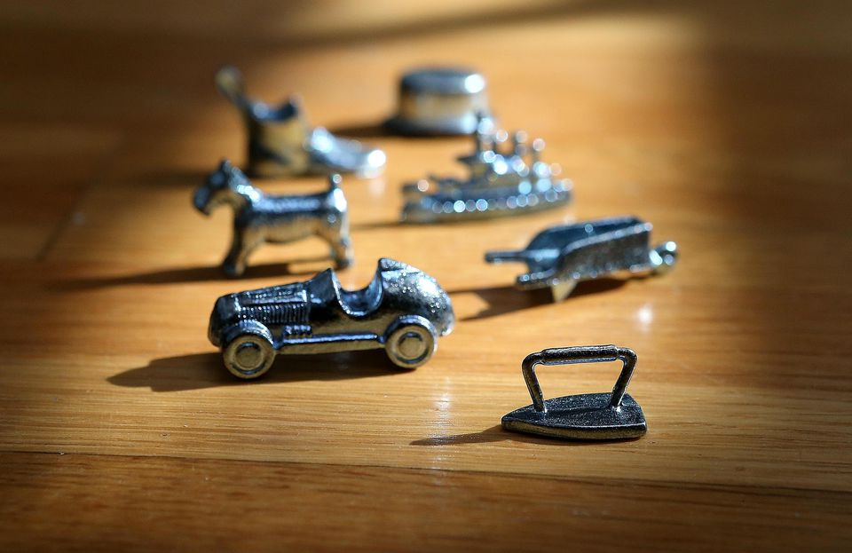 Monopoly board game pieces