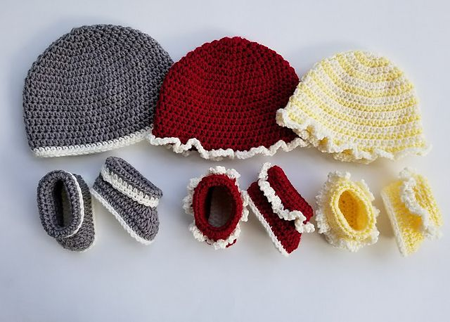free crochet patterns for baby hats and booties