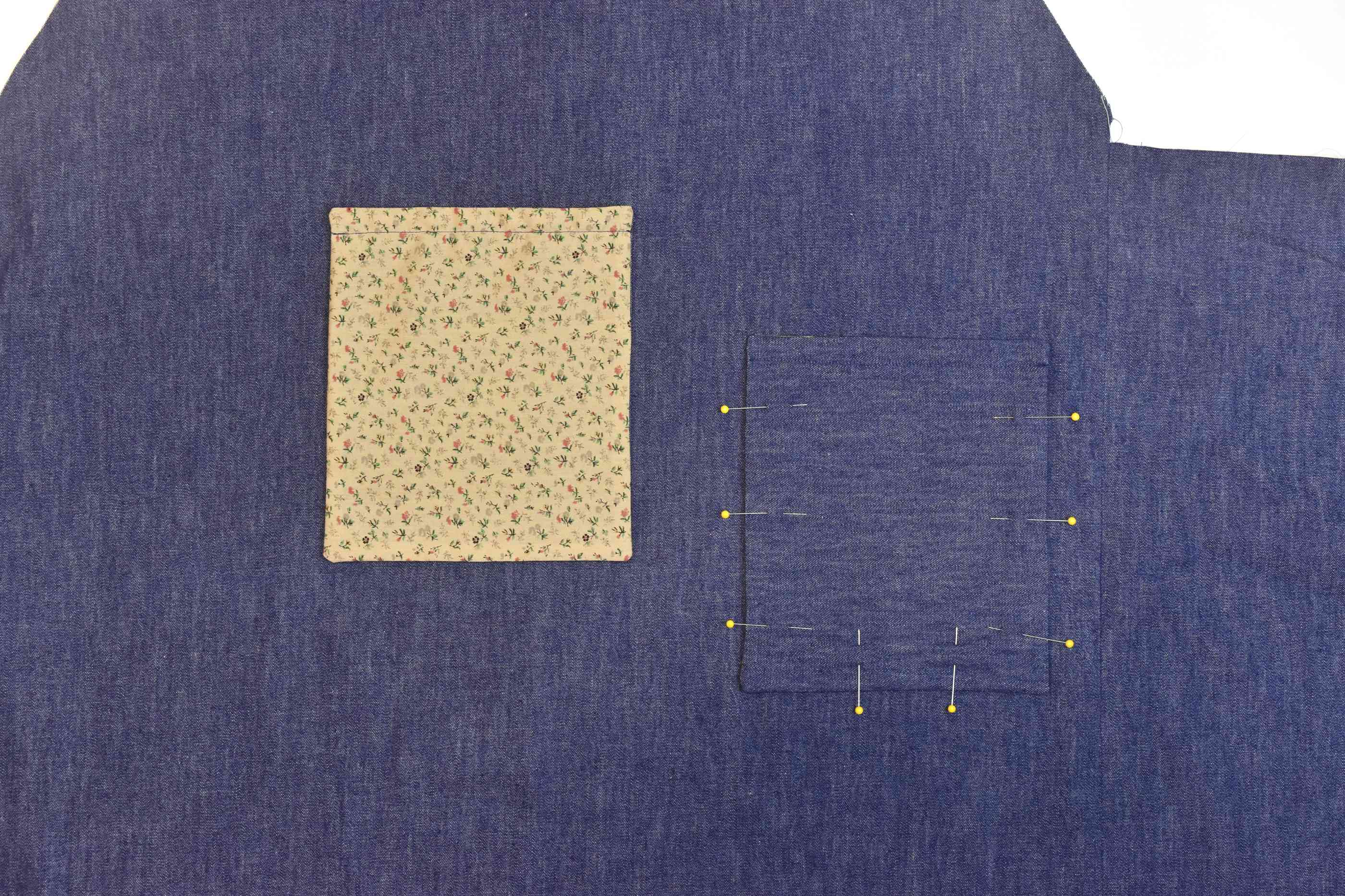 Make and Sew the Pockets in Place
