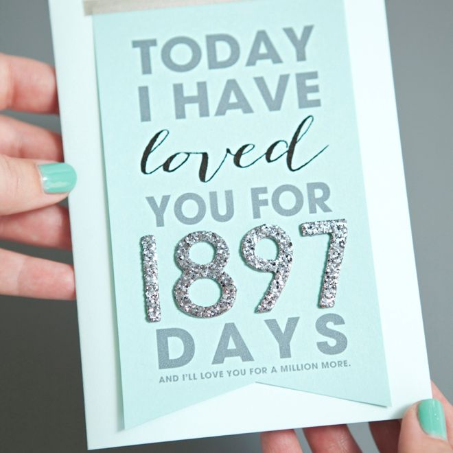 An Anniversary Card With How Many Days You Ve Been Together On It