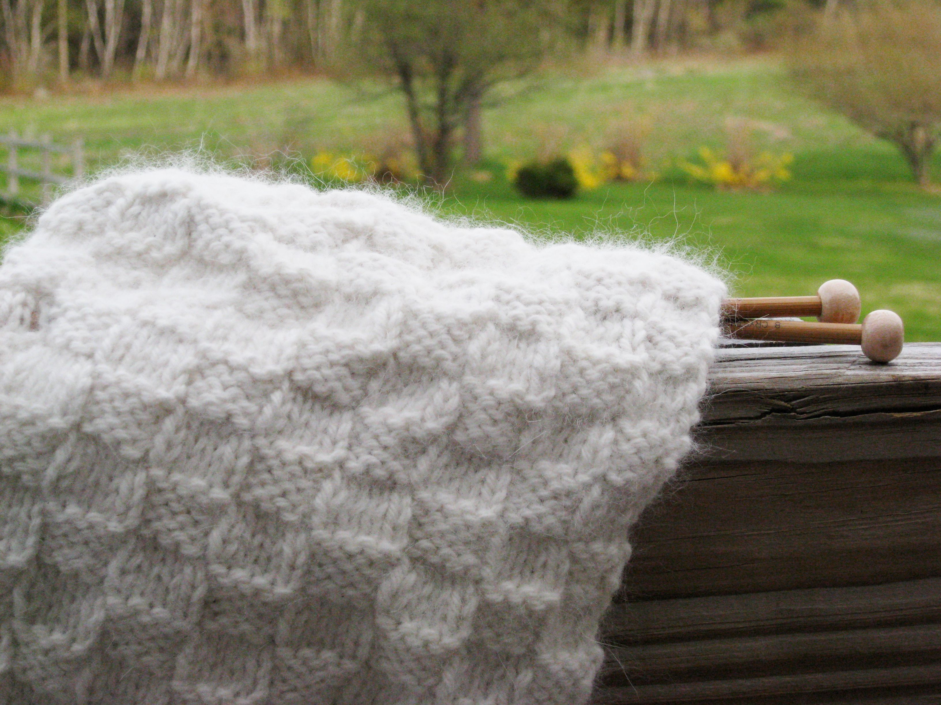 Free Basket Weave Scarf Knitting Pattern