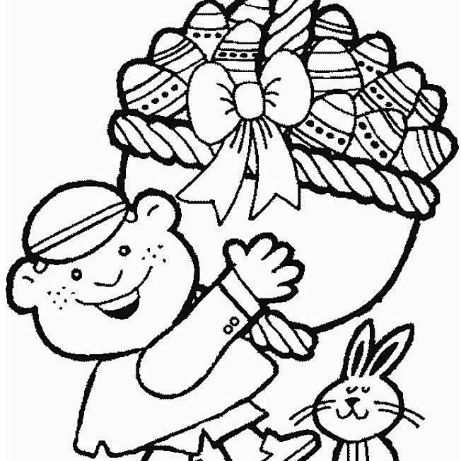 Easter Coloring Pages For The Kids Free And Printable - Easter-coloring-page