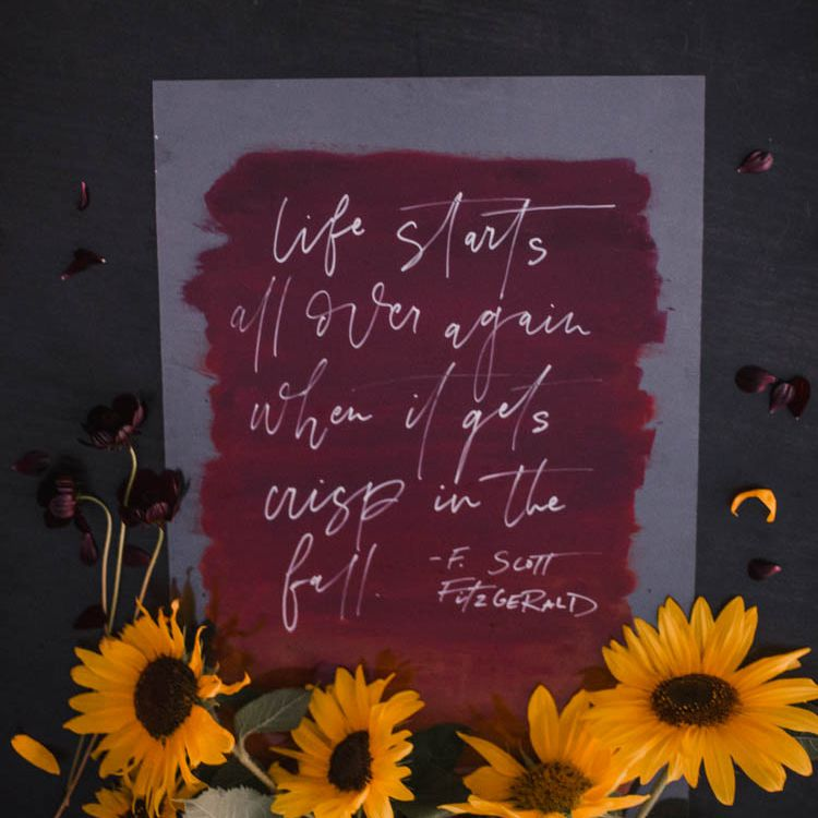 fall quote sign diy
