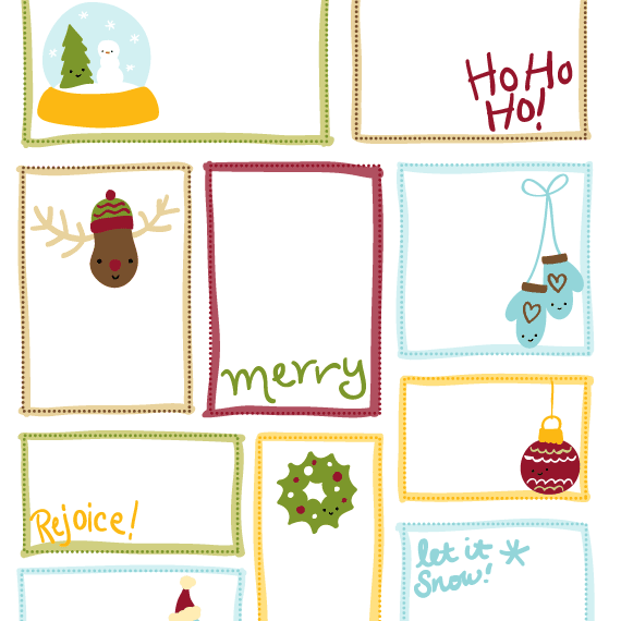 Editable Christmas Labels.40 Sets Of Free Printable Christmas Gift Tags