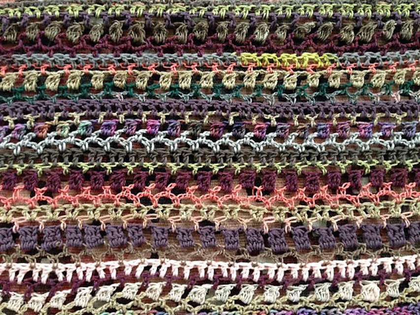 Scrap Yarn Crochet Blanket Shawl