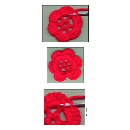 Two Layer Irish Crochet Rose Free Pattern
