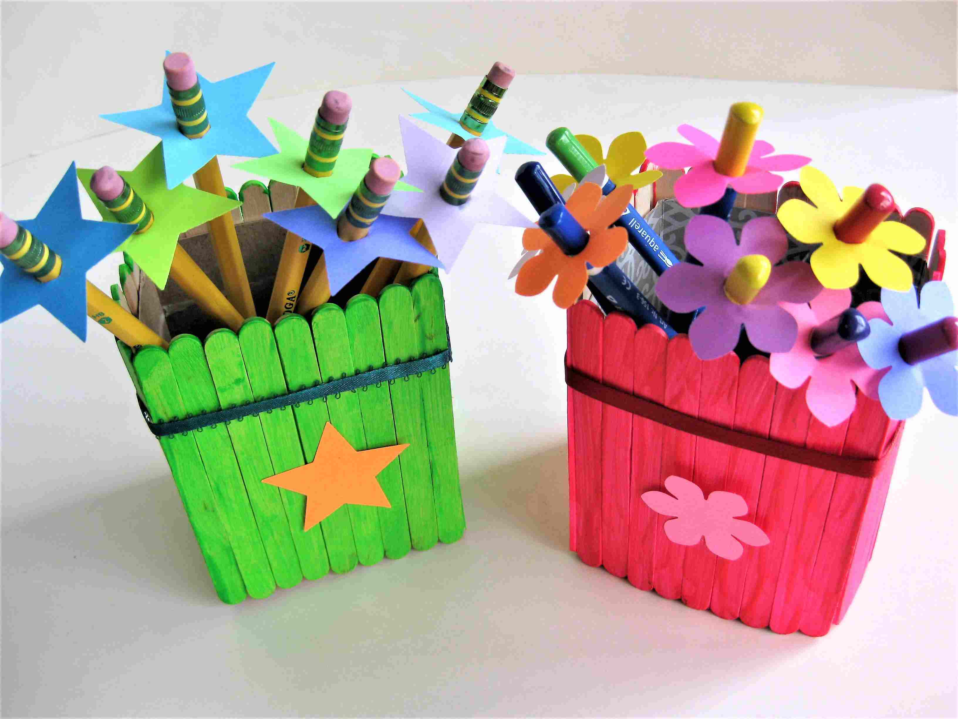 Back To School Pencil Holders And Pencil Toppers Craft