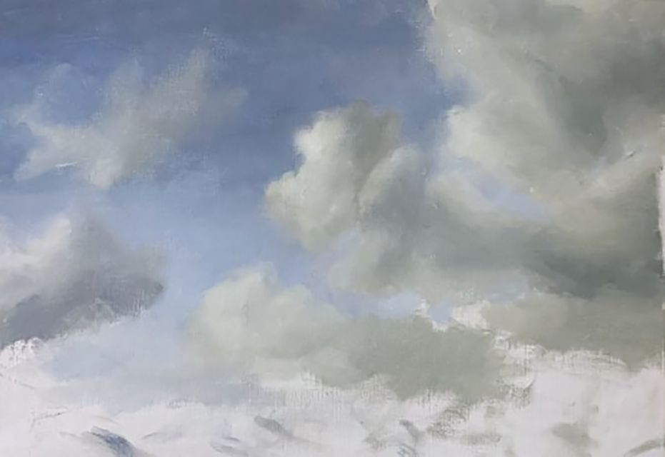 how to paint clouds with oil paint