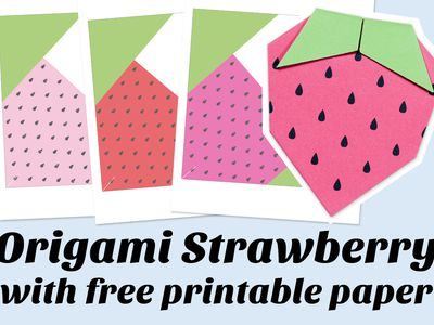 Learn How To Fold A Cute Origami Strawberry For Kids